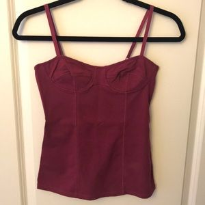 Talula camisole in maroon/burgundy